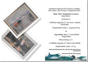 Sáska Tibor festőművész tárlatának megnyitója @ Templomok tere | Balatonakali | Veszprém | Magyarország