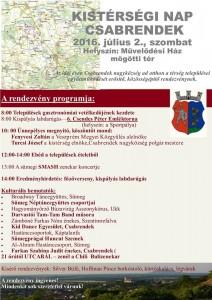 Kistérségi nap Csabrendeken @ Mávelődési ház mögötti tér | Csabrendek | Veszprém | Magyarország