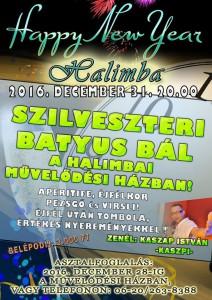 Szilveszteri Batyus BÁL @ pin  Térkép megjelenítése Müvelődési Ház IKSZT Halimba | Halimba | Magyarország
