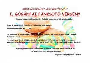 I. Gógánfai Fánksütő verseny @ Művelődési Ház | Gógánfa | Magyarország