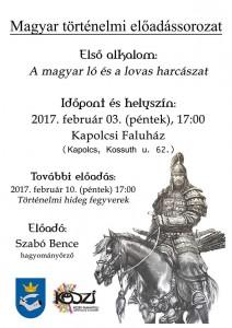 Magyar történelmi előadássorozat @ Faluház | Kapolcs | Magyarország