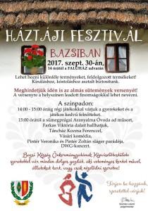Háztáji Fesztivál Bazsiban @ Bazsi Faluház udvara | Bazsi | Magyarország