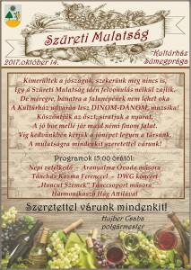 Szüreti Mulatság @ Sümegprága Kultúrház | Sümegprága | Magyarország