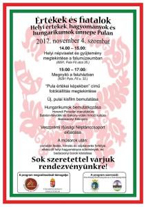 hagyományok pulán @ Falumúzeum (8291 Pula, Fő utca 35), Faluház (8291 Pula Fő utca 32.) | Pula | Magyarország
