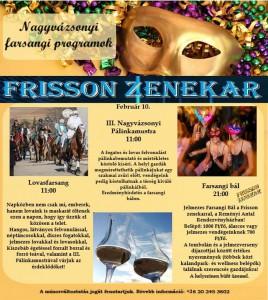 Nagyvázsonyi Farsangi Programok @  Reményi Antal rendezvényházban! | Nagyvázsony | Magyarország