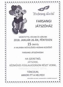 Farsangi Játszóház @ Halimba Művelődési Ház | Halimba | Magyarország