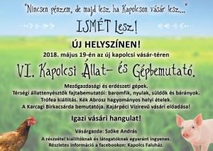 VI. Kapolcsi Állat- és Gépbemutató @ Új kapolcsi vásár-tér | Kapolcs | Magyarország