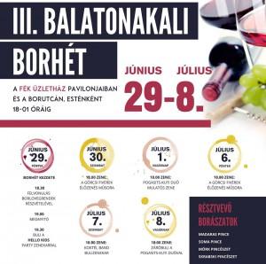 Balatonakali Borhét @ A FÉK üzletház pavilonjaiban és a borutcán | Balatonakali | Magyarország