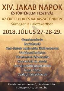 XIV. Jakab Napok és Történelmi Fesztivál @ Palotakert, Lovagi Aréna | Sümeg | Magyarország