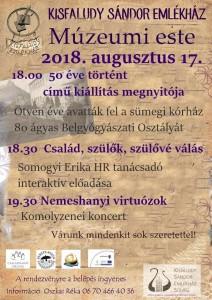 Múzeumi este @ Kisfaludy Sándor Emlékház | Sümeg | Magyarország