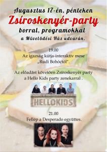 Zsíros kenyér Party @ Művelődési Ház udvara | Balatonakali | Magyarország