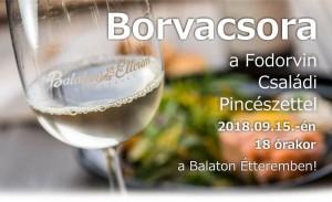 Borvacsora a Fodorvin Családi Pincészettel @ Balaton Étterem | Balatonfüred | Magyarország