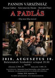 Pannon Várszínház: A Padlás című előadása @ Szabadtéri színpad | Balatonakali | Magyarország