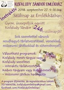 Szülinap az Emlékházban @ Kisfaludy Sándor Emlékház | Sümeg | Magyarország