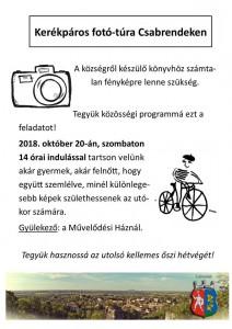 Kerékpáros fotó-túra @ Művelődési Ház  | Csabrendek | Magyarország