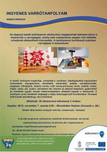 Ingyenes varrótanfolyam @ Művelődési Ház  | Nemesvámos | Magyarország
