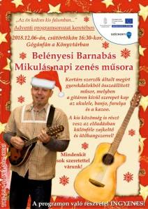 Mikulás napi zenés műsor @ Könyvtár | Gógánfa | Magyarország