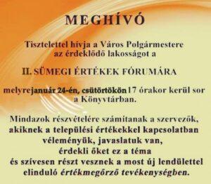 Sümegi Értékek Fóruma @ Kisfaludy Sándor Művelődési Központ