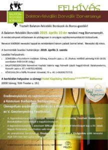 Balaton-felvidéki Borvidék Borversenye @ Hotel Kapitány Wellness