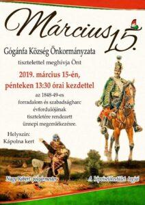 Március 15-ei ünnepség @ Kápolna Kert