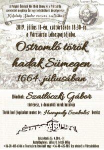 Ostromló török hadak Sümegen - helytörténeti vacsora a Csárdában @ Várcsárda