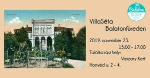 VillaSéta Balatonfüreden @ Vaszary Kávézó és Kert