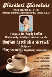 Közéleti Kávéház-Dr. Bagdy Emőke @ Reményi Antal Rendezvényház