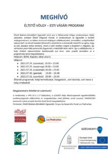 Éltető Völgy - esti vásári program @ Éltető Völgy