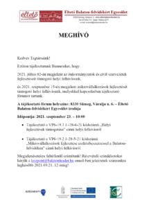 Tájékoztató fórum @ Sümeg Éltető Balaton-felvidékért Egyesület